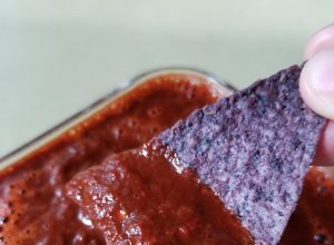Red Tomato Salsa with Guajillo, Mulato, and Morita Chiles