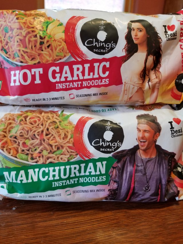 Ching's Hot Garlic Instant Noodles + Ching's Manchurian Instant Noodles, or how to be extra 101